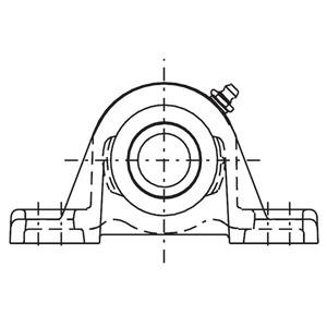 2-Bolt Pillow Block Diagram
